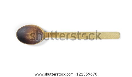 wooden spoon with clipping path