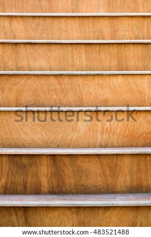 Wooden steps. Close up. Texture