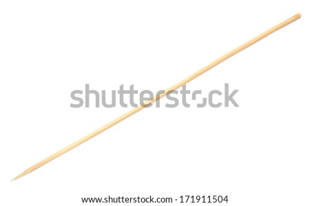 wooden stick isolated on white - stock photo