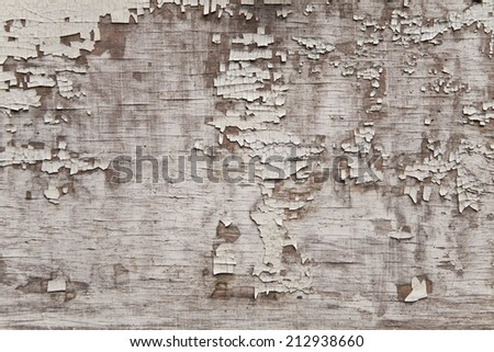 wooden surfaces with old paint - stock photo