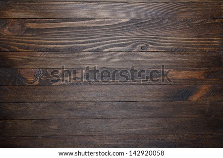 Wooden table background top view - stock photo