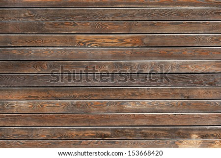 Wooden table background, top view