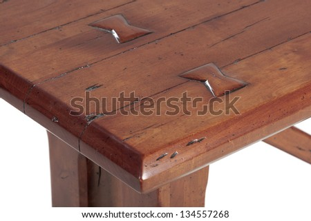 Wooden table detail - stock photo