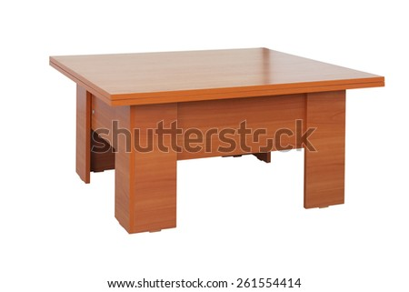 Wooden table - transomer - stock photo