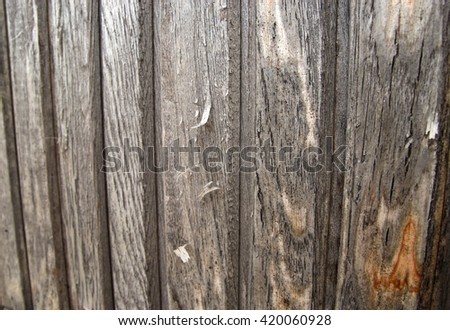 Wooden texture background. Old wooden fence pattern - stock photo