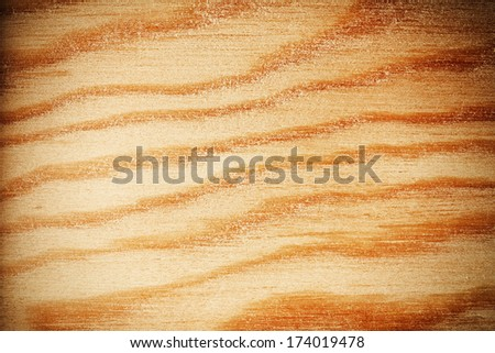 Wooden texture background with vignette - stock photo