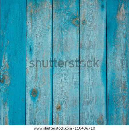 Wooden texture of blue color - stock photo