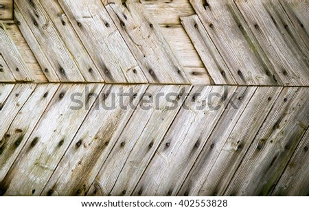 Wooden texture of wood composition, background image - stock photo