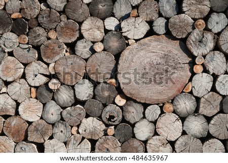Wooden texture. Wooden architecture: an old log wall.