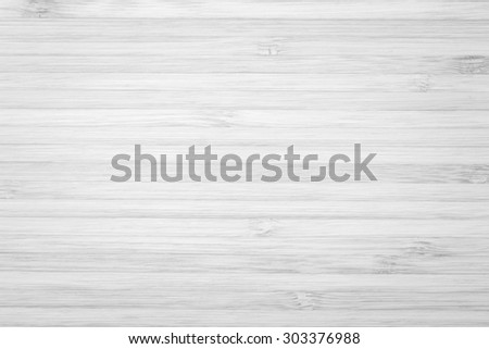 Wooden textured grainy detail backdrop in light white grey color tone: Bamboo wood laminated board detailed texture pattern background in white gray toned colour   - stock photo