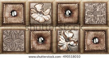 wooden tiles design(high resolution)
