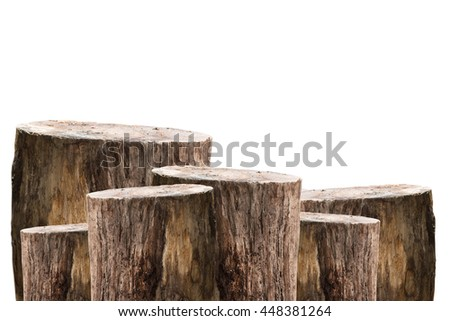 wooden timber isolated on white background  - stock photo