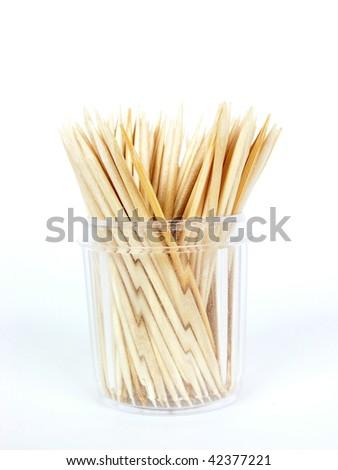 Wooden toothpicks - stock photo