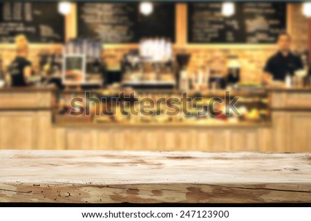 wooden top and bar  - stock photo