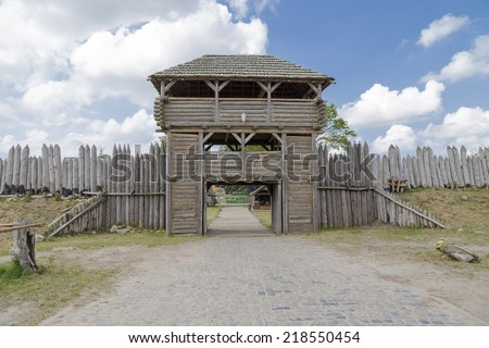 Wooden fort stock images royalty free images vectors for Old wooden forts