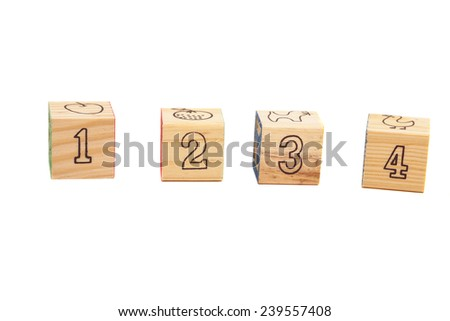 Wooden  toy cubes - stock photo