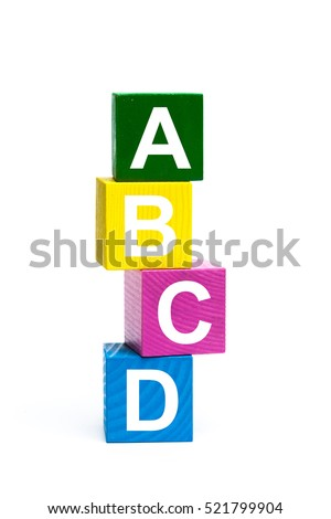 Worksheet A B C D In Vertical Letter abcd stock images royalty free vectors shutterstock wooden toy cubes with letters abcd