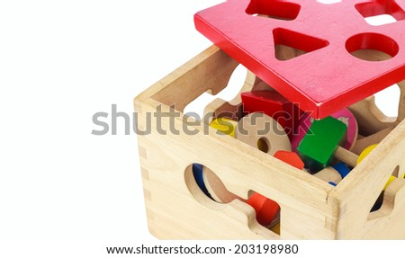 Wooden toys - stock photo