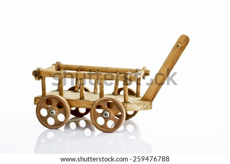 Wooden trolley - stock photo
