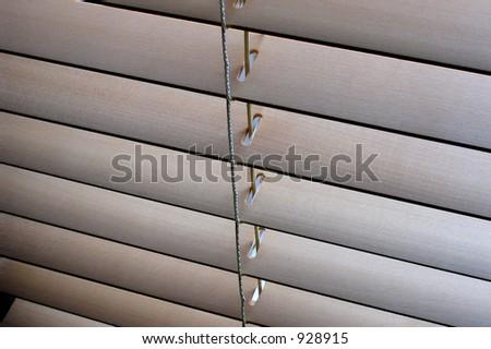 Wooden venetian blind closeup - stock photo