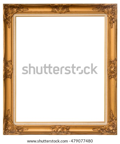 wooden vintage frame with clipping path