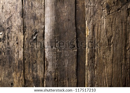 Wooden wall - stock photo
