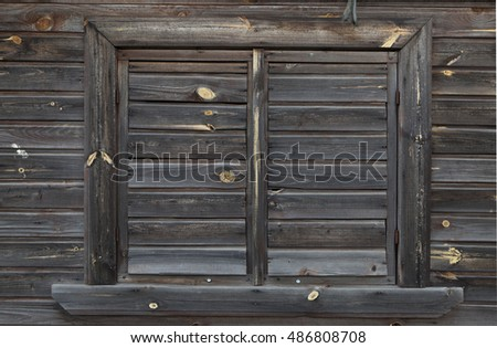 Wooden wall and window, which made of old material