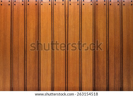 wooden wall and wood floor  background - stock photo