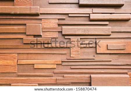 wooden wall from wooden house for background