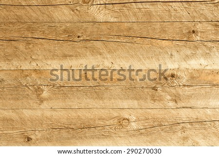 Wooden wall made only with an ax - stock photo