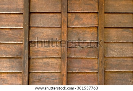 Wooden wall outdoor
