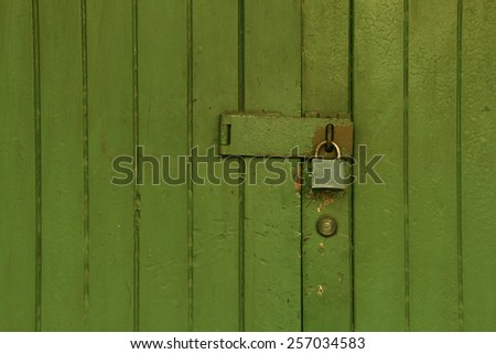 Wooden wall painted for Background and texture