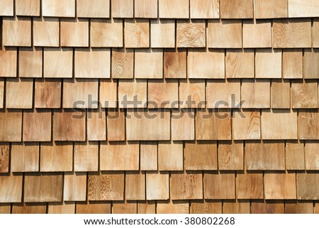 Wooden wall that combines with many wooden tile.