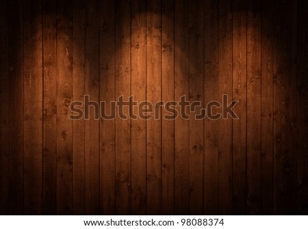wooden wall with spots - stock photo