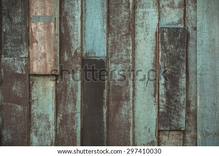 Wooden wall with vintage color