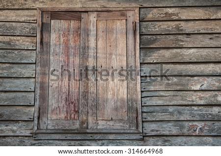 Wooden walls and old wood.