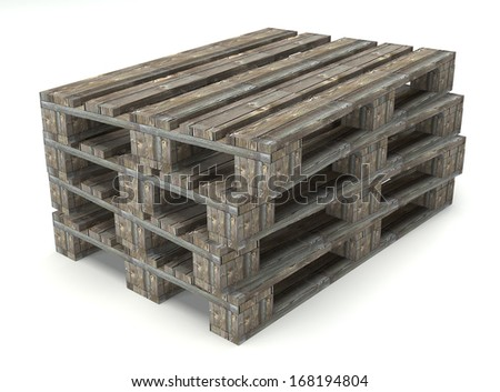 Wooden warehouse pallet