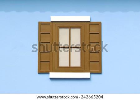 Wooden window in Thailand - stock photo