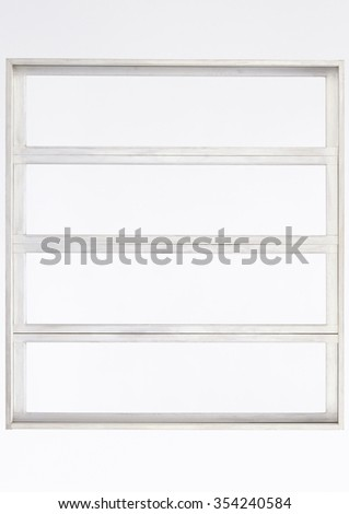 Wooden window isolated on white