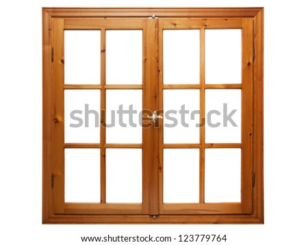 Wood window frame stock photos images pictures for Window frame designs house design