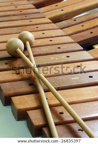 wooden xylophone - stock photo
