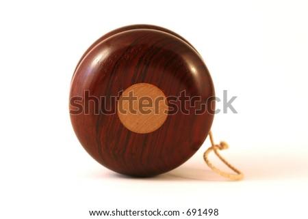 wooden yo-yo - stock photo