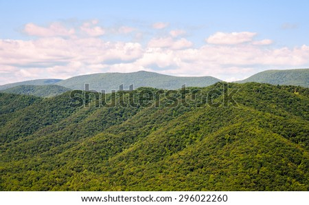 Woodland Hills at High Allegheny - stock photo