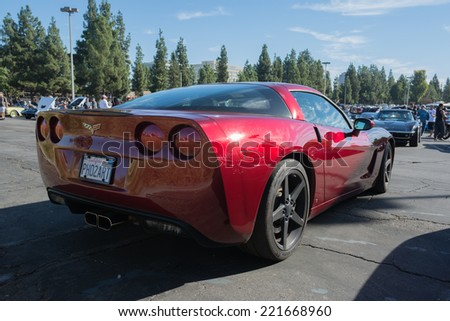 Woodland Hills, CA - October 5, 2014: Chevrolet Corvette Z06 at the Super Car Sunday Corvette in Woodland Hills, CA. - stock photo