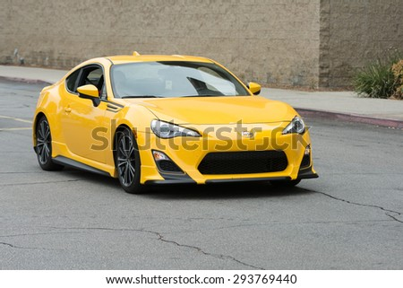 Woodland Hills, CA, USA - July 5, 2015: Scion FR-S car on display at the Supercar Sunday car event.