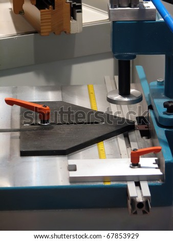 Woodworking machine. Woodworking tool. Industry machine.