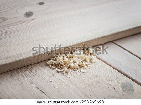 Woodworking set, with instruments and materials. - stock photo