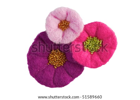 Wool flower - stock photo