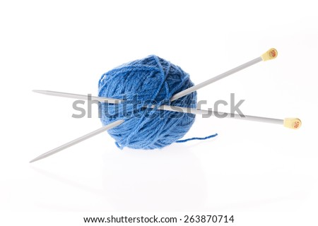 wool isolated - stock photo