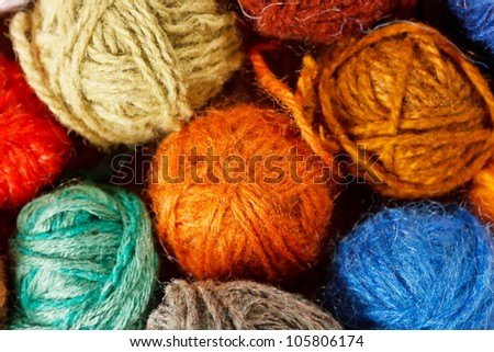 wool knitting - stock photo
